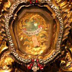 A closer look at the relic of St. John the Baptist