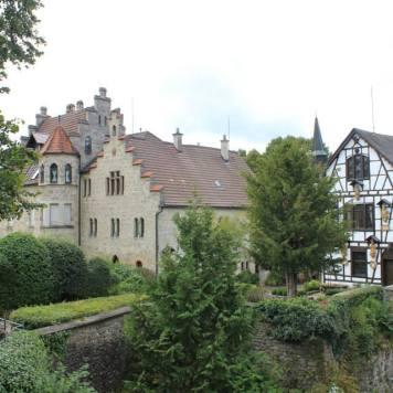 lovely buildings outside the castle