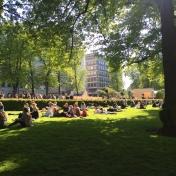 Esplanadi Park in Helsinki, Finland.
