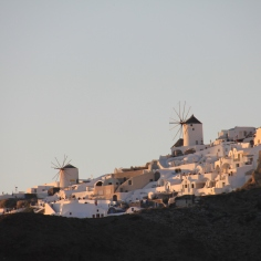 views of Santorini from the water
