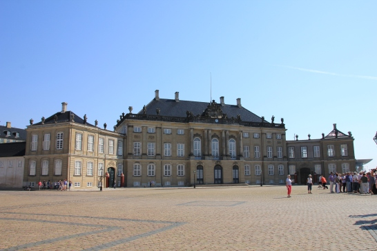 One of the four palaces of Amalienborg
