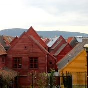 Bryggen from the 11th century in Bergen, Norway.