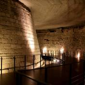 Moat discovered underneath the Louvre Museum in Paris, France.