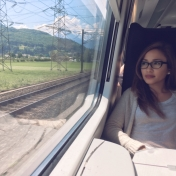 On a train from Italy to Switzerland.