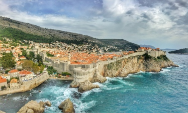 Walls of Dubrovnik with history from the Middle Ages