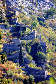 The City Walls standing almost vertically on the cliffs.