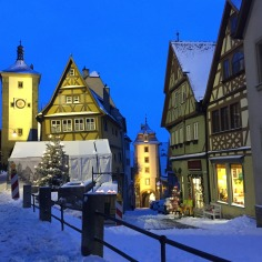The iconic street of Rothenburg ob der Tauber